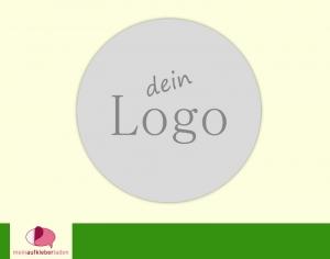 DIY - Aufkleber rund | Logo - personalisierbar mit deinem Logo - Bild - Label - Handarbeit kaufen