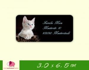 24  Adressaufkleber eckig | Kleines Kätzchen - umweltfreundlich - Handarbeit kaufen