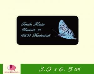 24  Adressaufkleber eckig | Schmetterling - umweltfreundlich  - Handarbeit kaufen
