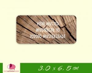 24  Adressaufkleber eckig | Holz 1 - umweltfreundlich - Handarbeit kaufen