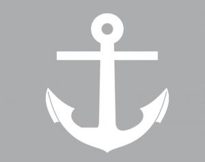 Wandbordüre - selbstklebend   Anker - 10 cm Höhe   Vlies Bordüre mit maritimen Motiven - Handarbeit kaufen