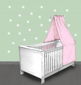 Wandtattoo | Kleine Sterne - weiß -  24 teilig | Wandaufkleber für Kinderzimmer - Handarbeit kaufen