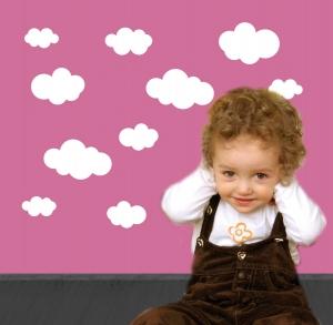 Wandtattoo | verschiedene Wolken - weiß -  21 teilig | Wandaufkleber für Kinderzimmer  - Handarbeit kaufen