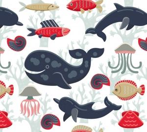Kinderbordüre - selbstklebend | Wale - Delfine - Fische - 18 cm Höhe | Vlies Bordüre mit vielen Unterwassertieren - Handarbeit kaufen