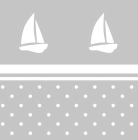 Wandbordüre - selbstklebend | Segelschiff & Pünktchen - 20 cm Höhe | Vlies Bordüre mit maritimen Motiven  - Handarbeit kaufen