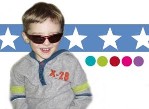 Kinderbordüre - selbstklebend | Große Sterne - bunt - 10 cm Höhe | Vlies Bordüre mit großen Sternen  - Handarbeit kaufen