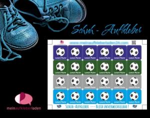 24 Schuhaufkleber | Fußball + Schutzfolie - personalisierbar | Namensaufkleber, Schuhetiketten  - Handarbeit kaufen