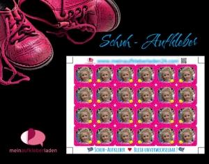 24 Schuhaufkleber mit Foto | Sonne - pink + Schutzfolie - personalisierbar mit eigenem Foto | Namensaufkleber, Schuhetiketten   - Handarbeit kaufen