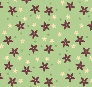 Wandbordüre - selbstklebend | Kleine Blüten - 12 cm Höhe | Vlies Bordüre mit zarten Millefleur-Blüten - Handarbeit kaufen