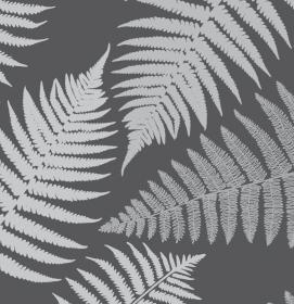 Wandbordüre - selbstklebend | Farn - 15 cm Höhe | Vlies Bordüre mit Farnblättern - Handarbeit kaufen