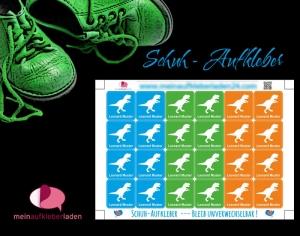 24 Schuhaufkleber | T-Rex + Schutzfolie - personalisierbar | Namensaufkleber, Schuhetiketten (Kopie id: 100257934) - Handarbeit kaufen