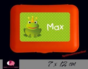 Aufkleber für Brotdosen | Frosch - grün | personalisierbar | große Namensetiketten, Schuletiketten    - Handarbeit kaufen