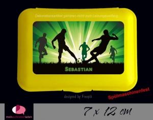 Aufkleber für Brotdosen | Fußballspieler - grün | personalisierbar | große Namensetiketten, Schuletiketten   - Handarbeit kaufen