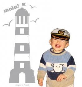 selbstklebende Messlatte | Leuchtturm - moin |  Kindermesslatte, Messleiste für Kinderzimmer - Handarbeit kaufen