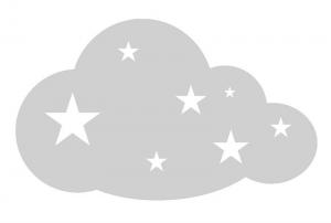 Wandtattoo | große Wolke - Sterne | Dekoaufkleber für Kinderzimmer  - Handarbeit kaufen