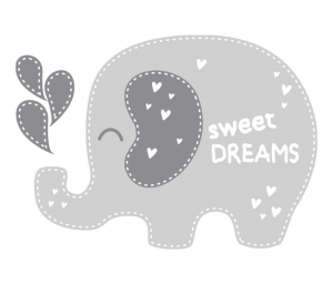 Wandtattoo | Elefant -  Sweet Dreams | Türaufkleber - Wandaufkleber für Kinderzimmer  - Handarbeit kaufen
