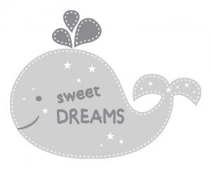 Wandtattoo | Wal -  Sweet Dreams | Türaufkleber - Wandaufkleber für Kinderzimmer  - Handarbeit kaufen
