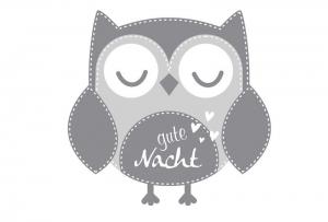 Wandtattoo | Eule - Gute Nacht | Türaufkleber - Wandaufkleber für Kinderzimmer  - Handarbeit kaufen