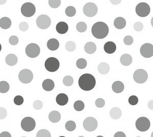 Kinderbordüre - selbstklebend | Graue Punkte - 12 cm Höhe | Vlies Bordüre mit vielen Pünktchen  - Handarbeit kaufen