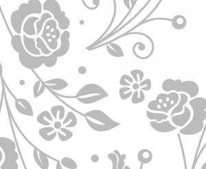 Wandbordüre - selbstklebend | Rosen Ornamente  - 16 cm Höhe | Vlies Bordüre mit romantischen Blüten - Handarbeit kaufen