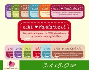 DIY - Aufkleber eckig   ech Handarbeit - Adressaufkleber - personalisierbar - Handarbeit kaufen