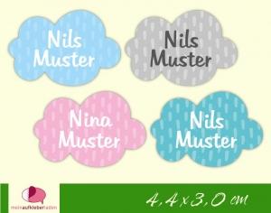36 Form - Namensaufkleber | Kleine Wolke | personalisierbar | Namensetiketten, Schuletiketten  - Handarbeit kaufen