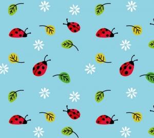 Kinderbordüre - selbstklebend | Marienkäfer und Blümchen - 16 cm Höhe | Vlies Bordüre mit roten Käferchen und weißen Blüten - Handarbeit kaufen