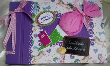 Ein Gästebuch zu Einschulung mit Namen des Kindes