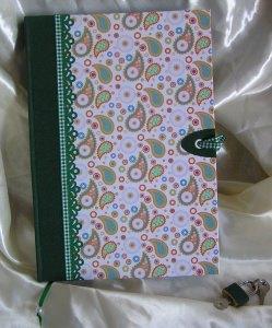 Abschließbares Tagebuch personalisiert Paisley