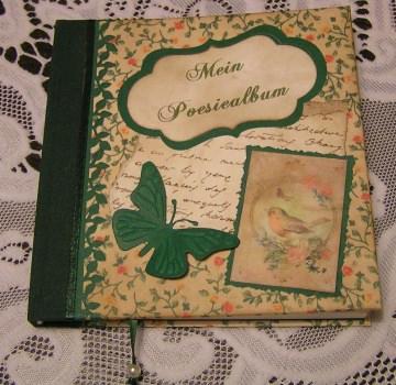 Poesiealbum handgemacht wie aus alten Zeiten Blümchen grün