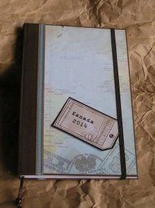 Reisetagebuch handgefertigt  A5 gebunden