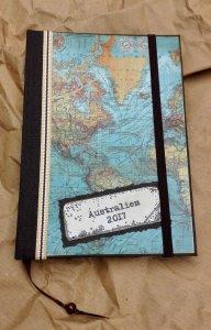 Reisetagebuch handgefertigt  A6 gebunden