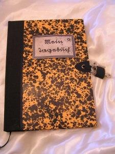 Abschließbares Tagebuch mit Schloss A5 Sütterlin Orange