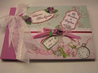 Hochzeitsgästebuch  handgefertigt A4 quer