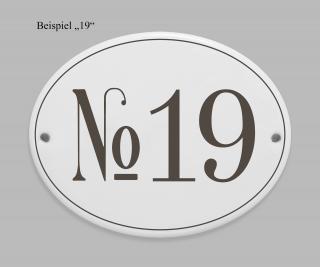 Türschild Namensschild Hausnummer Porzellanschild Schild No