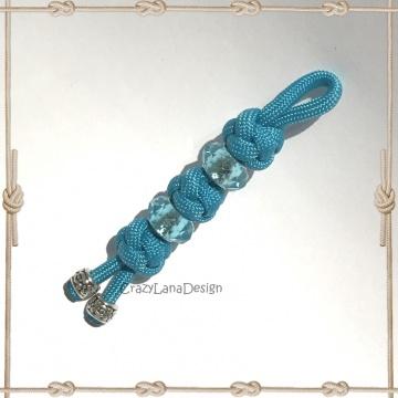 ♡ Schlüsselanhänger Diamantknoten in türkis ♡