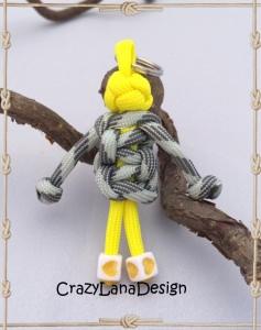 ♡ Schlüsselanhänger Männeken in gelb/grau ♡