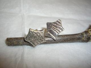 Ohrstecker große Sterne in Sepiaguss - Handarbeit kaufen