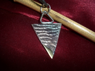 Anhänger Silber mit Gold als Sepiaguss