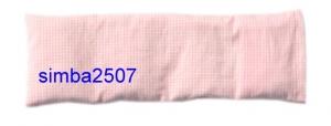 4.Kammer. Baby-Dinkelkissen mit Inlett Bezug Vischy Karo weiß/rosa - Handarbeit kaufen