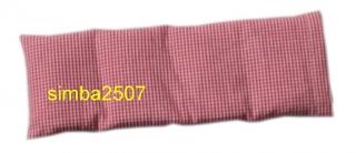 4 Kammer Baby-Dinkelkissen mit Inlett Bezug Vischy Karo rot /weiß
