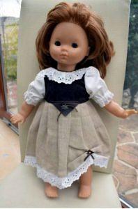 Puppenkleidung Dirndl Heidi , Puppenlänge 45 - 50 cm