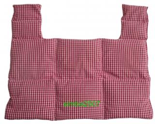 10 Kammer Dinkel Nacken Kissen 1150 g Vischy Karo rot/weiß - Handarbeit kaufen