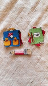 Stickbilder für den Schulanfang zum aufbügeln, Stickbilder, Bügelbilder   - Handarbeit kaufen