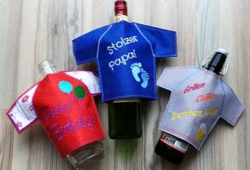 Flaschen T-shirt, die lustige Geschekidee für Flaschen - Handarbeit kaufen