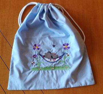 Wäschebeutel für den Kindergarten, Rucksack für das Schlafzeug oder die Wechselsachen