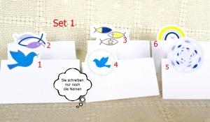 Tischkarten mit christlichen Motiven aus Papier    Set 1 - 6 Motive - Handarbeit kaufen