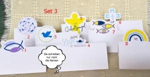 Tischkarten mit christlichen Motiven aus Papier    Set 3    8 Motive - Handarbeit kaufen