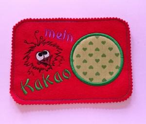 Mugrugs  Tassenteppich  für den Lieblingskakao   Tassenuntersetzer handgefertigt aus Filz