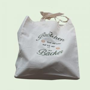 - ♥ -Brotbeutel mit einem dekorativen Muster bestickt- ♥ - Rucksack zum Brötchen holen,Baumwolle - Handarbeit kaufen
